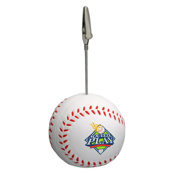 Baseball Memo Holder Stress Reliever