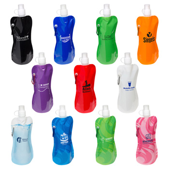16 Oz. Flex Water Bottle w/ Carabiner